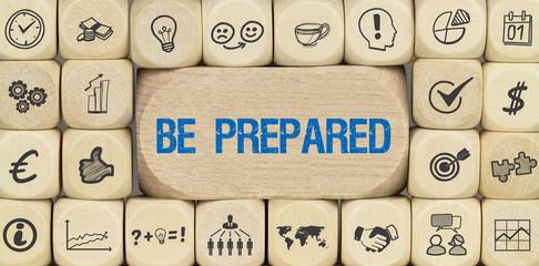 Be Prepared / Würfel mit Symbole Wall mural