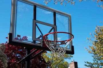 Outside basketball hoop