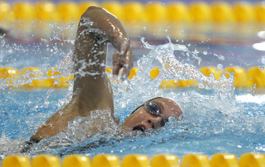 Garcia of Spain competes in the women's 1500m freestyle final during the 2012 European Swimming Championships in Debrecen