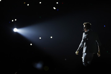 Bieber performs at Staples Center during his Believe Tour in Los Angeles