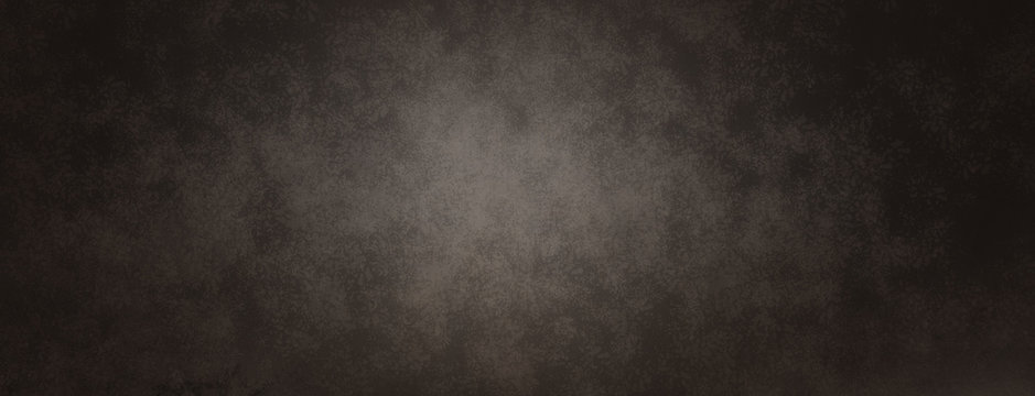 large black background, vintage distressed grunge textured border with soft spotlight center with copyspace
