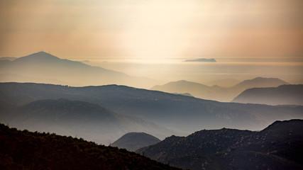 Hazy County of San Diego Mountains