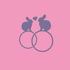 влюбленные зайцы