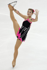 Austria's Schonberger performs during the women's preliminary round free skating event at the ISU World Figure Skating Championships in Moscow