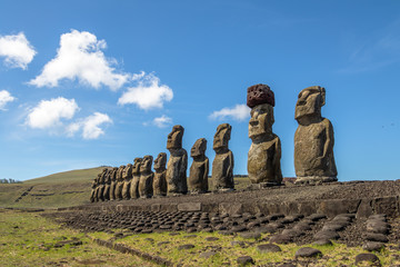 Moai Statues of Ahu Tongariki - Easter Island, Chile