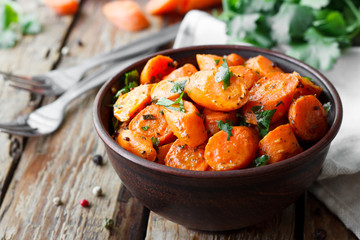 Caramelized carrots with cilantro