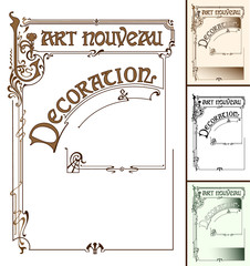 Frame in the style of art nouveau with the inscription.