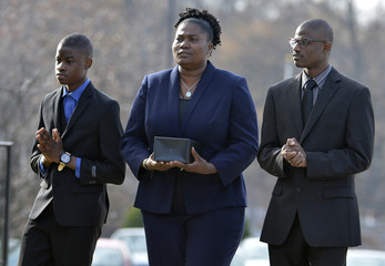 Family members and mourners hold funeral for Sierra Leone-born Dr Salia who died of Ebola, in Landover Hills