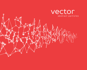 Vector background with white abstract particles.