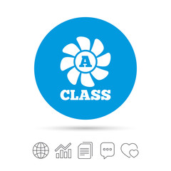 A-class ventilation sign icon. Energy efficiency.