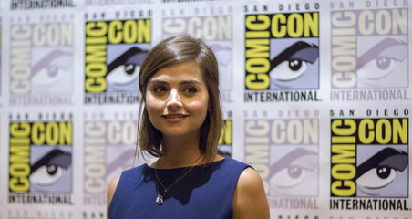 "Cast member Coleman poses at a press line for ""Doctor Who"" during the 2015 Comic-Con International Convention in San Diego"