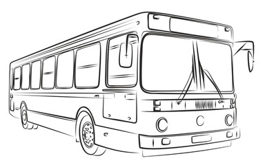 Sketch of bus.