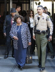 Joe and Katherine Jackson leave court after the opening day of Dr. Conrad Murray's trial in the death of pop star Michael Jackson in Los Angeles
