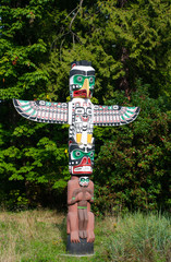 Totem pole is the cultural heritage of first nation people.