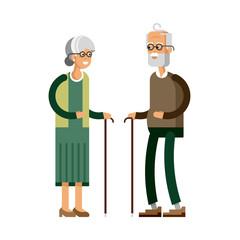 Retired elderly senior age couple