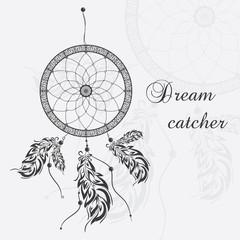 Vector dream catcher. White background.