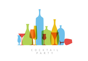 Minimalist Cocktail Party Invitation or Flyer