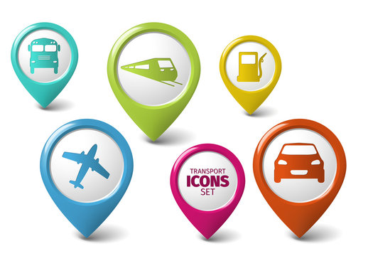 Travel Location Pointer Icons