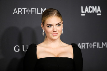 Model Kate Upton poses at the LACMA Art+Film Gala in Los Angeles