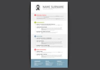 Timeline Style Resume Layout
