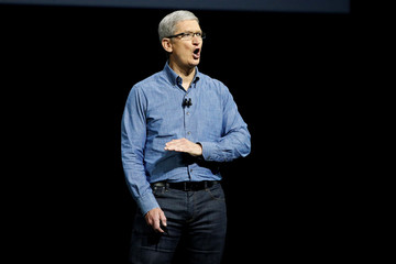 Apple Inc. CEO Cook speaks on stage at the company's World Wide Developers Conference in San Francisco