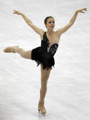 Wagner of the U.S. performs during the women's free skating event at the ISU World Figure Skating Championships in Nice