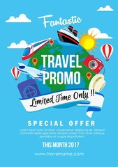 travel promo flat style