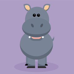 Ilustración vectorial - Hipopótamo - Animales salvajes - África - Zoológico