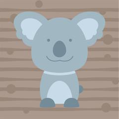 cute little koala kids t shirt design