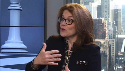 Stock picker and TV investment commentator Hilary Kramer is seen in a video screen grab from a television interview with Reuters TV in New York
