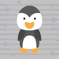 cute little penguin kids t shirt design