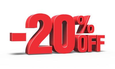 -20% OFF Discount 3D Text (Sale)