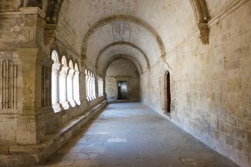 Fototapeta France, Arles, Abbey of Saint Peter of Montmajour, Benedictine order, established in  949 AD. Cloister area.