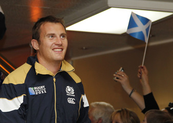 Scotland's captain Kellock arrives at Invercargill airport