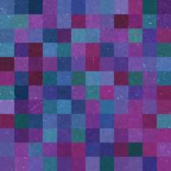 Seamless geometric checked pattern. Ideal for printing onto fabric and paper or decoration. Blue, pink, purple colors.