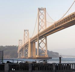 Square Composition Bay Bridge San Francisco California Transportation