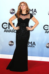 Connie Britton poses on arrival at the 47th Country Music Association Awards in Nashville
