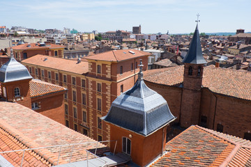 Europe,France,Toulouse,territorial view over city, taken from the top of Galaries Lafayette.