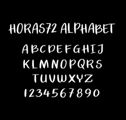 Horas72 vector alphabet uppercase characters. Good use for logotype, cover title, poster title, letterhead, body text, or any design you want. Easy to use, edit or change color.
