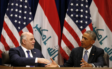 Obama meets Iraqi Prime Minister at the United Nations in New York