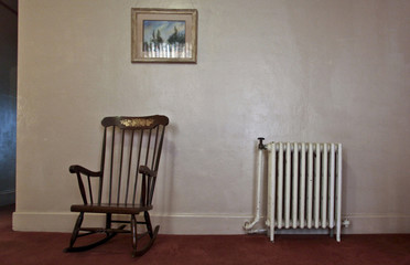 The rocking chair that has been reported to rock itself sits in the Gadsden Hotel in Douglas