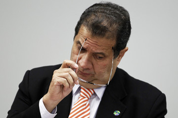 Brazil's Labor Minister Carlos Lupi talks about allegations of irregularities in Ministry's of Labor during a meeting of the Commission for Financial Supervision and Control of the Chamber of Deputies in Brasilia