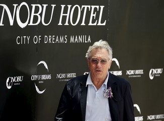 U.S. actor Robert de Niro arrives to attend the opening of Nobu Hotel in Pasay city, Metro Manila in the Philippines