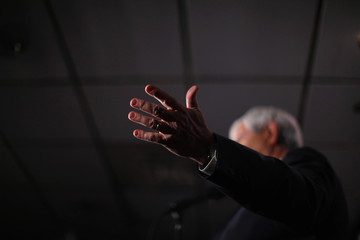 Newt Gingrich attends a Hispanic Town Hall Meeting in Manchester