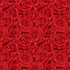 Red rose seamless pattern design