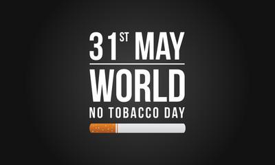 Background no tobacco day no smoking