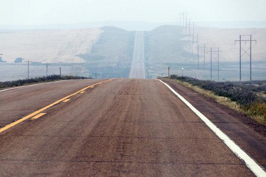 Hazy road