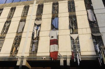 Clothes are hung outside the cells of prisoners in Roumieh prison, in Roumieh