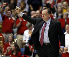 Western Kentucky head coach Ray Harper gestures as he coaches his team against Mississippi Valley during their NCAA men's college basketball game in Dayton, Ohio