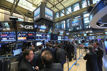 A general view of the New York Stock Exchange in Manhattan, New York City